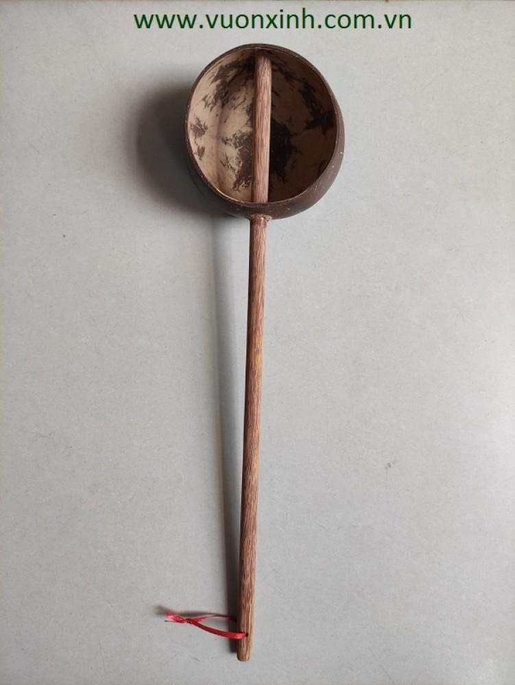 Gáo dừa múc nước