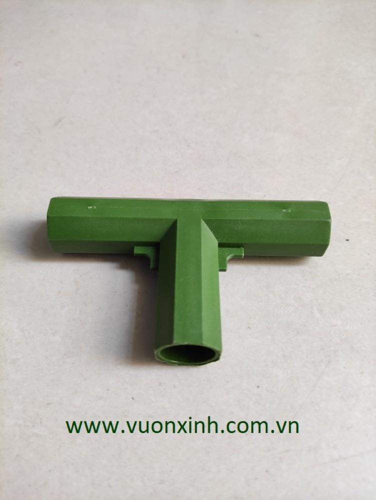 Khớp nối 3 chiều chữ T- E2 phi 16mm