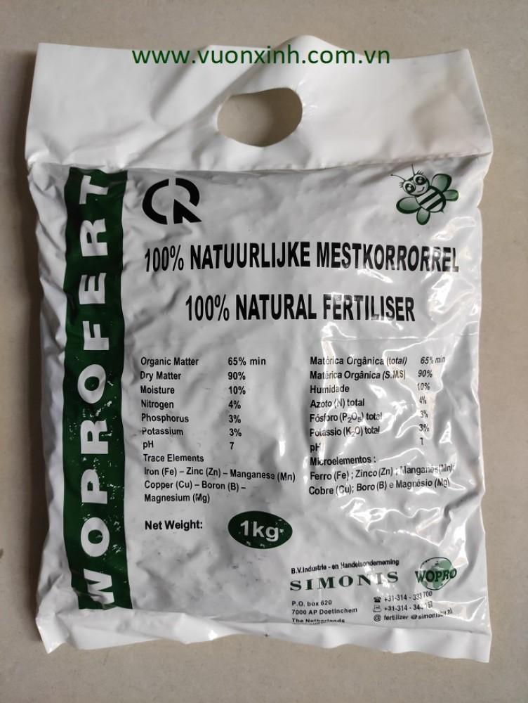 Phân bón hữu cơ Woprofert nhập khẩu Hà Lan 1kg