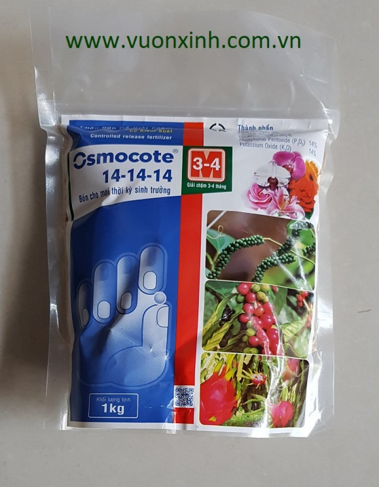 Phân Osmocote 14-14-14 tan chậm 1kg