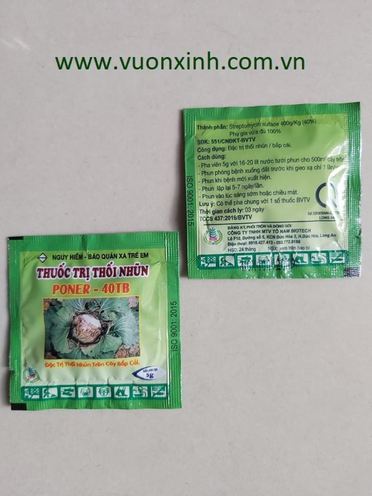 Poner-40TB thuốc trị thối nhũn viên sủi bọt