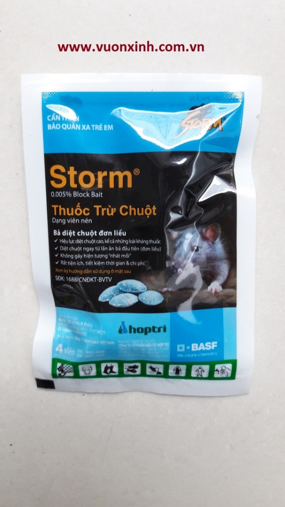 Diệt chuột Storm (1 gói 4 viên)